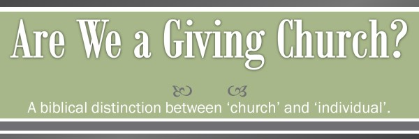 Are We a Giving Church?