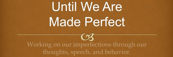 until we are made perfect