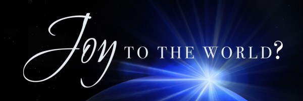 Joy to the world - banner