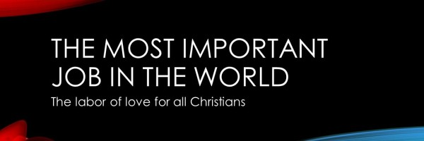 The most important job in this world - banner